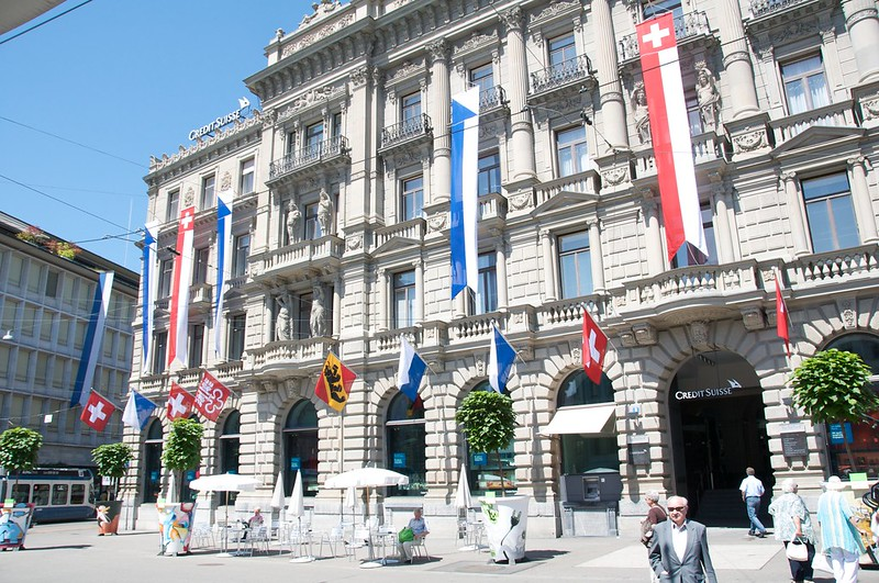 Shares in Switzerland's Credit Suisse climbed